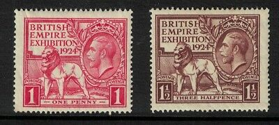 GB stamps - 1924  British empire exhibition mint good sg430/31 george v good lot