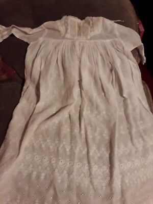 Christening Gown 21 Inches Long White Victorian