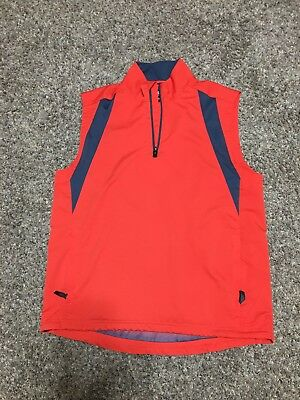 Adidas 90's Vintage Mens Sleeveless Vest Tracksuit Top Jacket Reflective Red