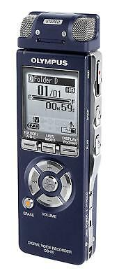 Olympus DS-50 Digital Voice Recorder Blue barely used pouch WMA Podcast Record