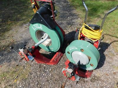 Spartan 1065 & 300 Sewer Pipe Drain Cleaning Machine Snake Rooter 2 Machines