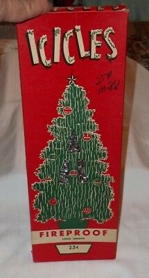 1950's,Vintage,Christmas,Tree,Boxed,Icicles,Decorations,Excellent Condition!