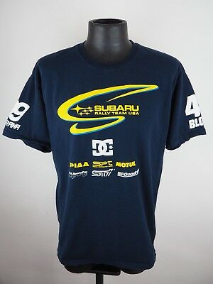 pretty nice 1439b f1742 Men s DC Shoes Subaru Rally Team USA Pastrana Block Navy Blue T-shirt LG