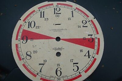 "Clock Parts 8 "" Sestrel ( A. G. Brown  Montreal Canada ) Clock Dial Used Spares"