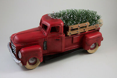 Old Time Christmas Truck Carrying Tree