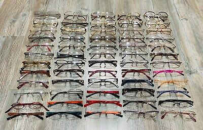 Lot Of 60 Pairs Of Eyewear Frame Glasses Made In Italy New And Authentic 100%