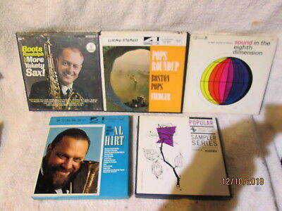 Vintage 5 Lot Reel to Reel Music, 4 track 7 1/2, Al Hirt,Boston Pops,Boots Rando