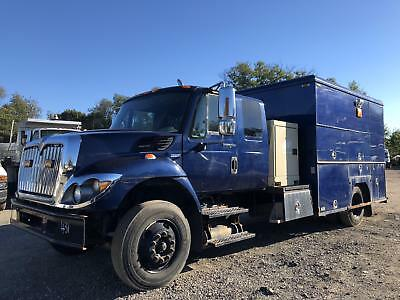 2009 International 7300 Mechanics Truck Maxxforce Generator Compressor