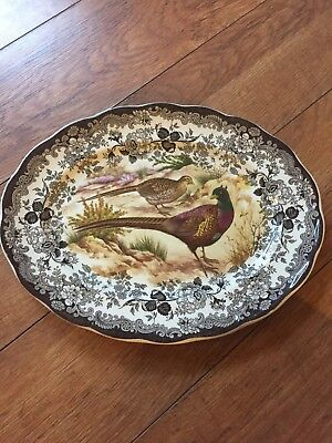 Royal Worcester Palissy Game Series-  LARGE SERVING PLATE OR MEAT PLATTER
