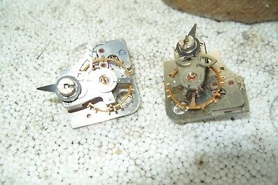 2 SMALL WORKING   PORTESCAP PLATFORM ESCAPEMENT  25mm x 26mm