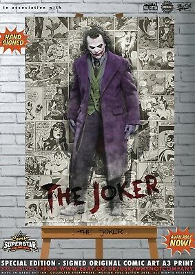 Heath Ledger The Joker Gotham Batman Comic Superstar A3 Art Print Series