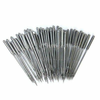 Lot of 50/100 Assorted Home Sewing Machine Needles for Brother Janome Singer