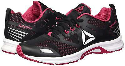 90a874cf2206 Reebok Ahary Runner Running Shoe White  Black  Rugged Rose Women s SZ 7 NEW!