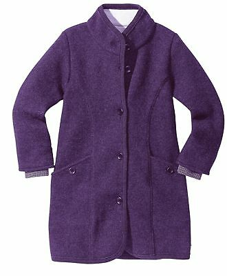 Disana boiled wool coat 4-5 years new with tags plum colour
