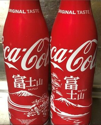 (2) diff  2018 Coca Cola Japan Mt. Fuji Limited bottle set Full