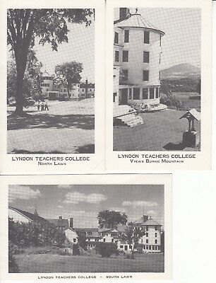 Lot of 3 postcards of Lyndon State College. Lyndon, VT