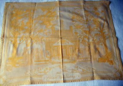 Woven French Cotton Jacquard Panel Colonial Williamsburg Suit Frame 56 X 77 Cms