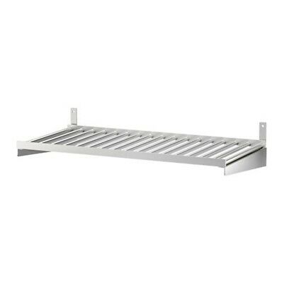 Ikea 24 Stainless Steel Wall Shelf Pot Lid Holder