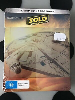 4K Ultra HD+2 Disc Blu-Ray Steelbook Solo: A Star Wars Story. Sold Out Last One!