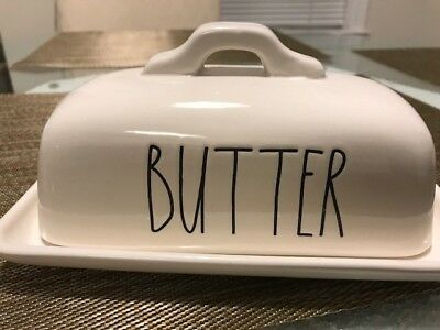 Rae Dunn Farmhouse Large Lettering BUTTER Dish