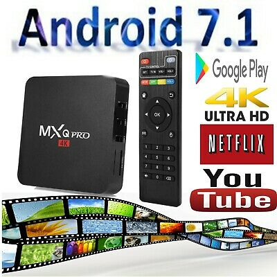 MXQ PRO Best Android TV Box Amlogic 7.1.2 Media Player Netflix Youtube Streamer