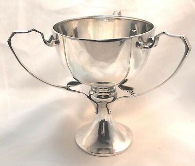 Antique 1916 Sterling Silver 3 Handle Loving Cup 194 gr Trophy No Mono