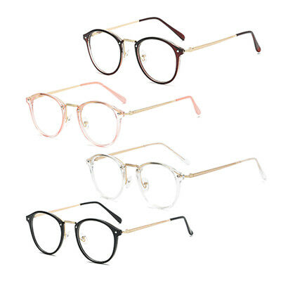 47f00bb085e Natwve Co Retro Round Clear Lens Eyeglasses Men Women Fashion Glasses US  Stock