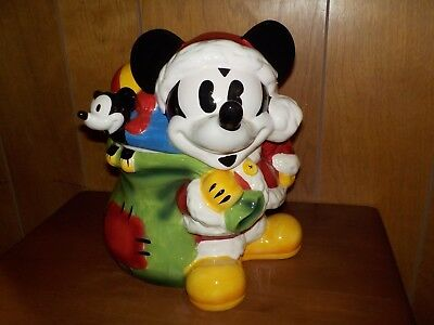Mickey Mouse Santa Cookie Jar From JC Penny 1990s