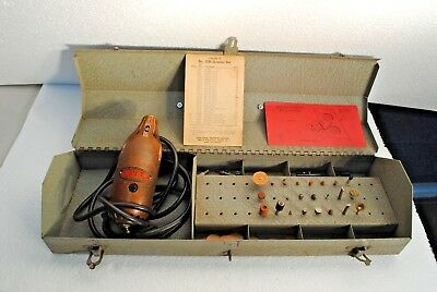 1943 Vintage DURO METAL PRODUCTS Co. HEAVY DURY Electric Hand Grinder MODEL 3049