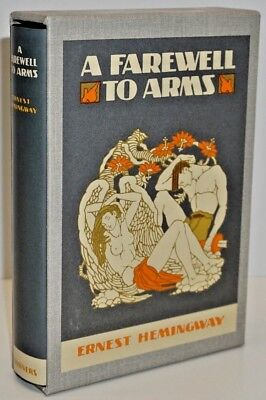 """""""A Farewell To Arms"""" By Ernest Hemingway -The First Edition Library/dust Jacket"""