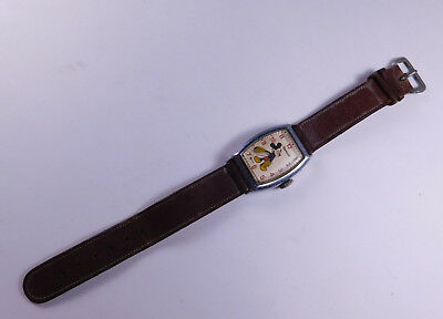 Vintage Mickey Mouse Wrist Watch Ingersoll 1947