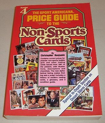 1992 Book The Sport Americana Number 4 Price Guide Non-Sports Cards by Benjamin