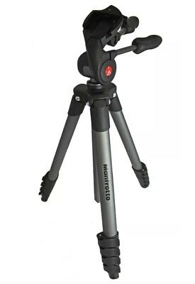 Manfrotto Compact Advanced Tripod with 3-Way Head Black MKCOMPACTADV-BK