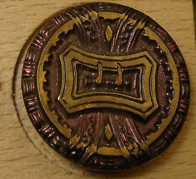 """NICE 15/16"""" Buckle with Tint Metal Antique Button 756:28"""