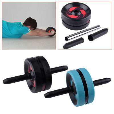 Fitness Abdominal Waist AB Roller Abs Wheel Core Muscle Exerciser Workout Gym