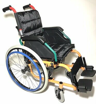 Paediatric Kids Folding Wheelchair Fully Featured Lightweight 13.5 Inch Seat NEW