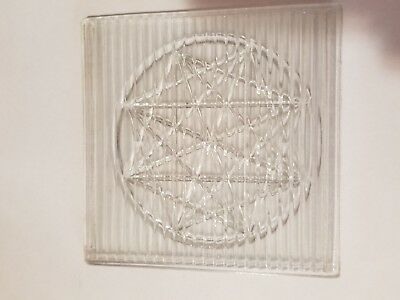 """Antique Prism Glass Star Tile 5"""" square.-Condie Neal"""