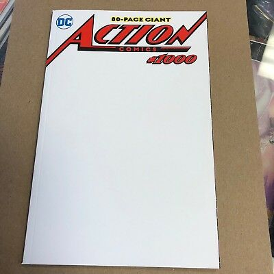 Action Comics #1000 blank sketch variant.