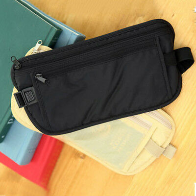 Waist Belt Bag Travel Pouch For ID Passport Security Money Ticket Compact Safety