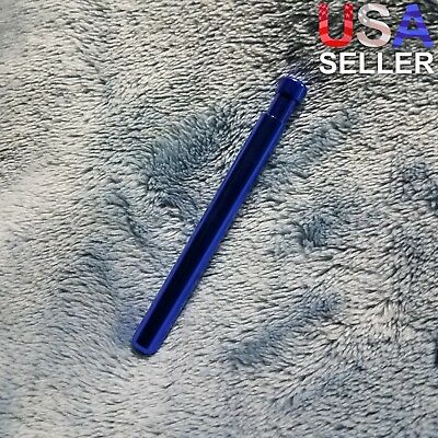 Small Blue One Hitter Pen Smoking Pipe Tobacco Herb Portable Metal Pocket Size