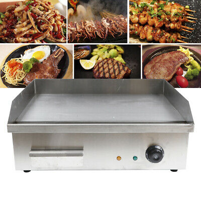3KW Electric Countertop Griddle Flat Top Commercial Restaurant Grill BBQ 110V