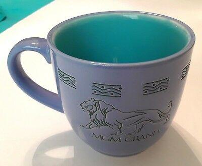 MGM GRAND Lion lavender blue and turquoise collectable coffee cup