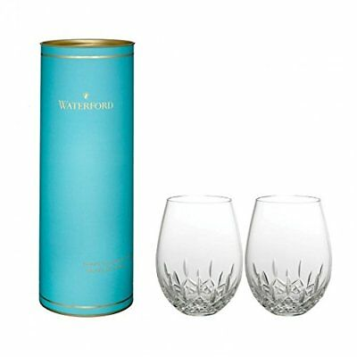 NEW Waterford Stemless Deep Wine Glasses Lismore Nouveau - Pair of 2 - 40030536