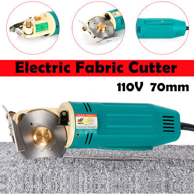 70MM Electric Fabric Cutter Round Rotary Blade Cloth Cutting Machine 800r/min US