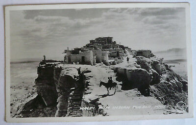 C. 1915 RPPC Hopi Pueblo Arizona Photo Postcard Adobe NR