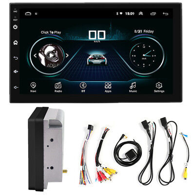 "2Din Android 8.1 7"" 1080P Auto PLAYER Stereo Radio GPS Wifi DAB QUAD-Core RDS"