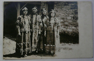 C. 1910 RPPC Cherokee Women Native Dress Postcard NR
