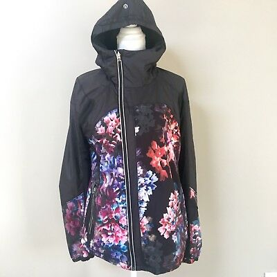 """Rare Lululemon Get Up and Glow Running jacket """"Spring Has Sprung"""" Print size 10"""