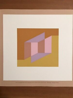"JOSEF ALBERS 1976 silkscreen print 8"" X 8"" NEVER BEFORE"