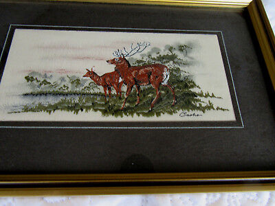 Vintage Cash's Woven Silk Picture From the Collectors Series 'Red Deer'